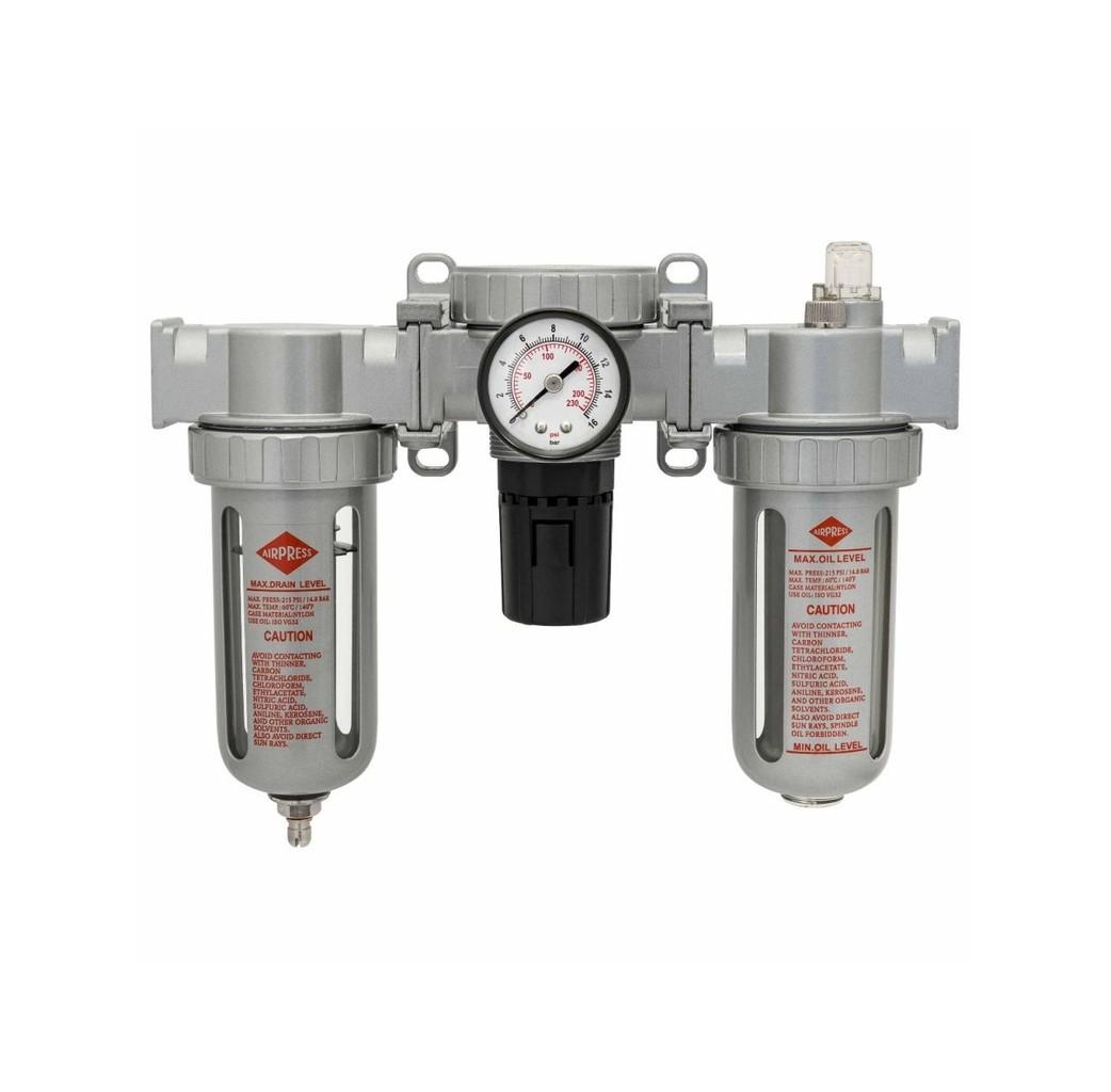"""Airpress Airpress Olie/ waterafscheider reduceerventiel en olienevelaar - 1/2"""" - 15 bar - 452034"""