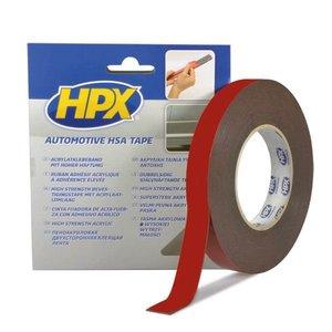HPX tapes HPX Dubbelzijdige HSA tape - 12mm x 10 meter - antraciet - HSA004