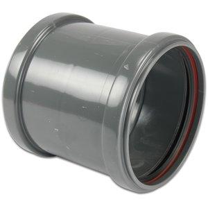 PVC-U Sok met stootrand - Ø110 t/m Ø315 mm - SN4, KOMO/BENOR - 2x manchet