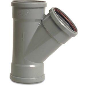 PVC-U T-stuk 45° - Ø110 t/m Ø315 mm - SN4, KOMO/BENOR - 3x manchet