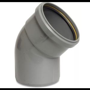PVC-U bocht 45° - Ø110 t/m Ø315 mm - SN4, KOMO/BENOR - 1x manchet - 0