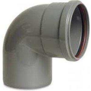 PVC-U bocht 87° - Ø110 t/m Ø200 mm - SN4, KOMO/BENOR - 1x manchet - 0