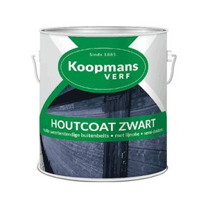 Tenco Koopmans Houtcoat zwart - 2,5 Liter + gratis beits verfset - 1