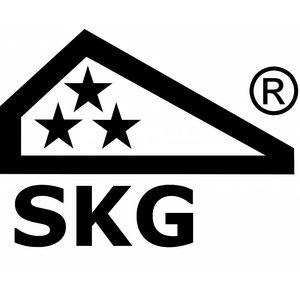 Ami deurbeslag Ami Voordeurgarnituur compleet recht - PC55 - SKG***® - zwart - VHB 55 RH BE - 2