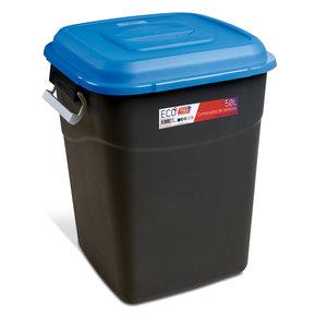 Tayg Tayg Afvalcontainer - 50 liter - blauw/ zwart - 412028