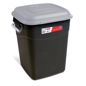 Tayg Tayg Afvalcontainer - 50 liter - grijs/ zwart - 412004