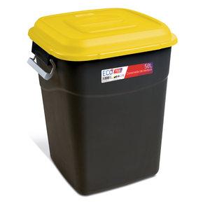 Tayg Tayg Afvalcontainer - 50 liter - geel/ zwart - 412011