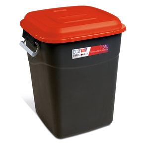 Tayg Tayg Afvalcontainer - 50 liter - rood/ zwart - 412103