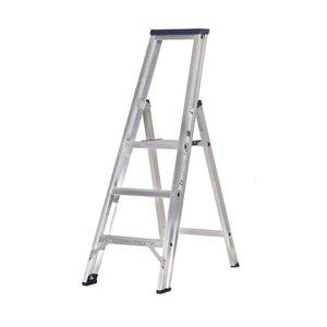 DAS DAS Premium enkel bouw trap - bordestrap - brut aluminium