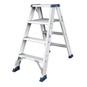 DAS DAS Premium Dubbele bouw trap - trapladder - brut aluminium