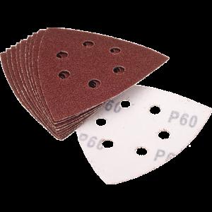 Qblades Qblades UN62 Schuurpad driehoek geporforeerd - 93 mm - 10 stuks