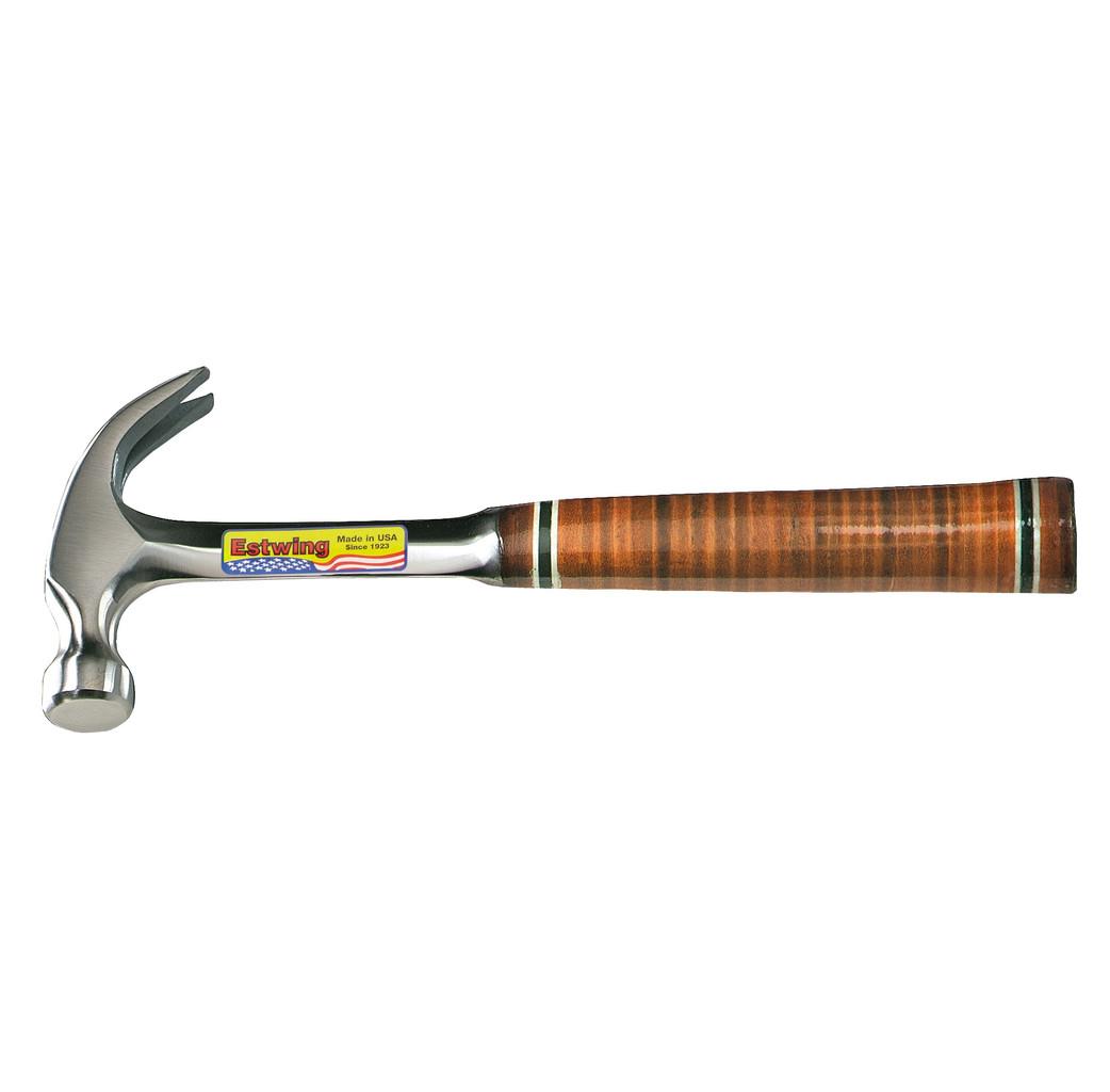 Estwing Estwing 02-4000E16C Gebogen klauwhamer met lederen handgreep - 450 gram / 16 oz