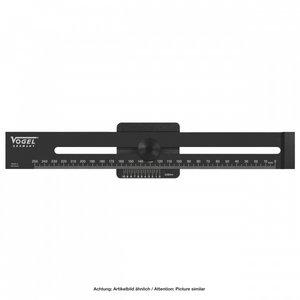 Vogel Germany Vogel Afschrijfliniaal met lange aanslag - 200 mm - aluminium gehard zwart - 336260