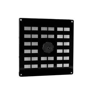 Nedco Nedco Schuifrooster - 200x200 mm - aluminium zwart - 635.003.01