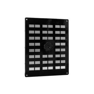Nedco Nedco Schuifrooster - 250x200 mm - aluminium zwart - 635.004.01