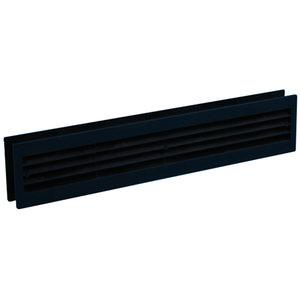 Nedco Nedco Deurventilatierooster - 455x90 mm - kunststof zwart - 641.002.01