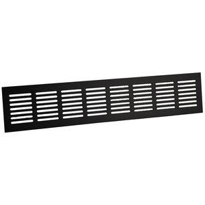 Nedco Nedco Plintrooster - 400x80 mm - aluminium zwart - 642.010.01