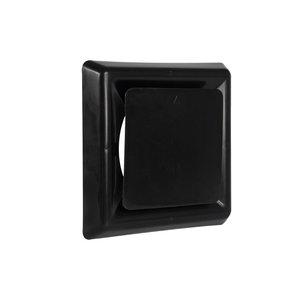 Nedco Nedco Afzuigventiel vierkant - Ø125 mm - kunststof zwart - 645.013.01