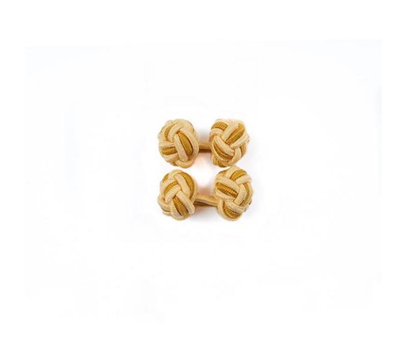 Manschettenknoten aus Seide in Gelb und Gold