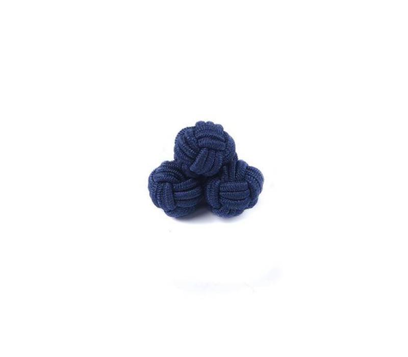 Manschettenknoten aus Seide in Marine