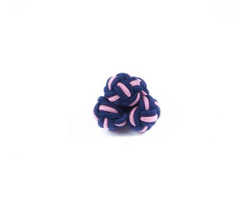 Manschettenknoten aus Seide in Rosa und Marine