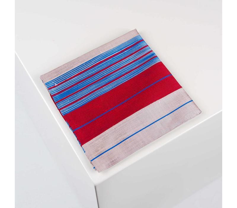 Accessoire-Set - Einstecktuch, Fliege, Socke - Dunkelblau/Rot