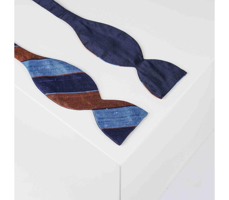 Accessoire-Set - Einstecktuch, Fliege, Socke - Blau/Gold
