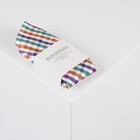 Accessoire-Set - Einstecktuch, Fliege, Socke - Schwarz/bunt