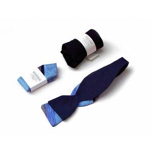 THEACCESSORYBOX by Gentleman's Agreement Accessoire-Set - Einstecktuch, Fliege, Socke - Royalblau/bunt