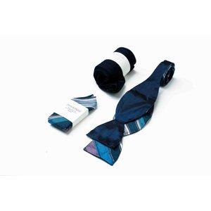 THEACCESSORYBOX by Gentleman's Agreement Accessoire-Set - Einstecktuch, Fliege, Socke - Marineblau/Bordeauxrot