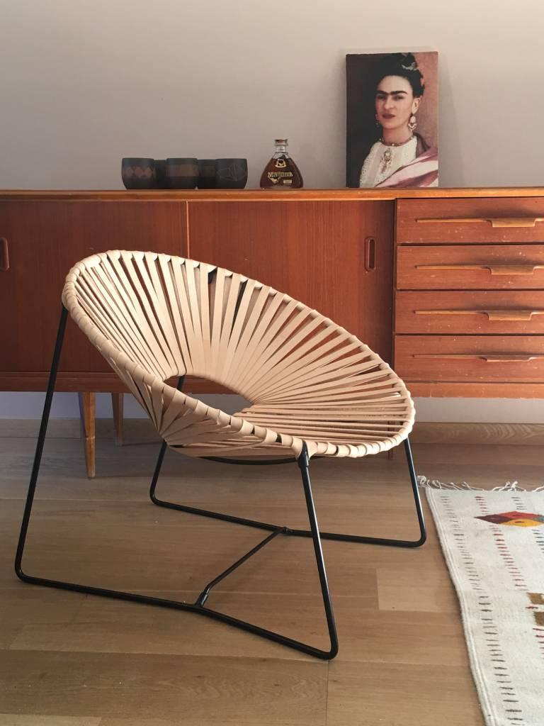 Lederen lounge stoel zwart