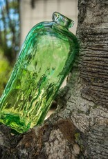 Glazen fles blauw