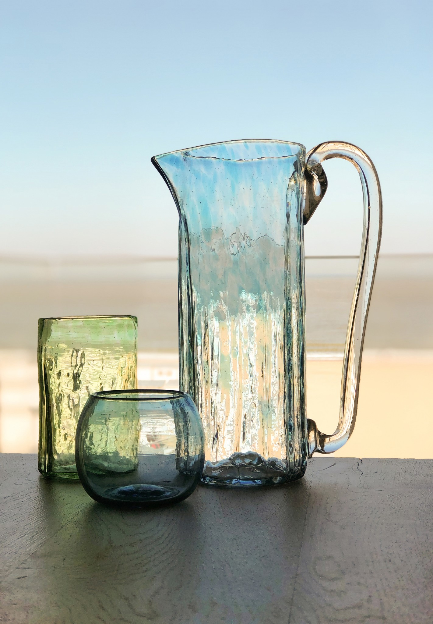 Hand-blown glass jug