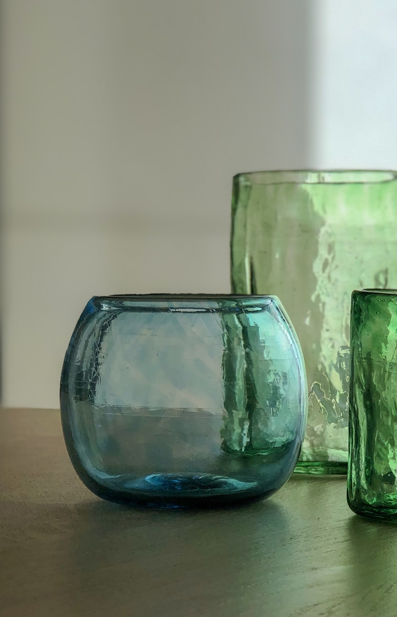 Hand-blown decorative glass
