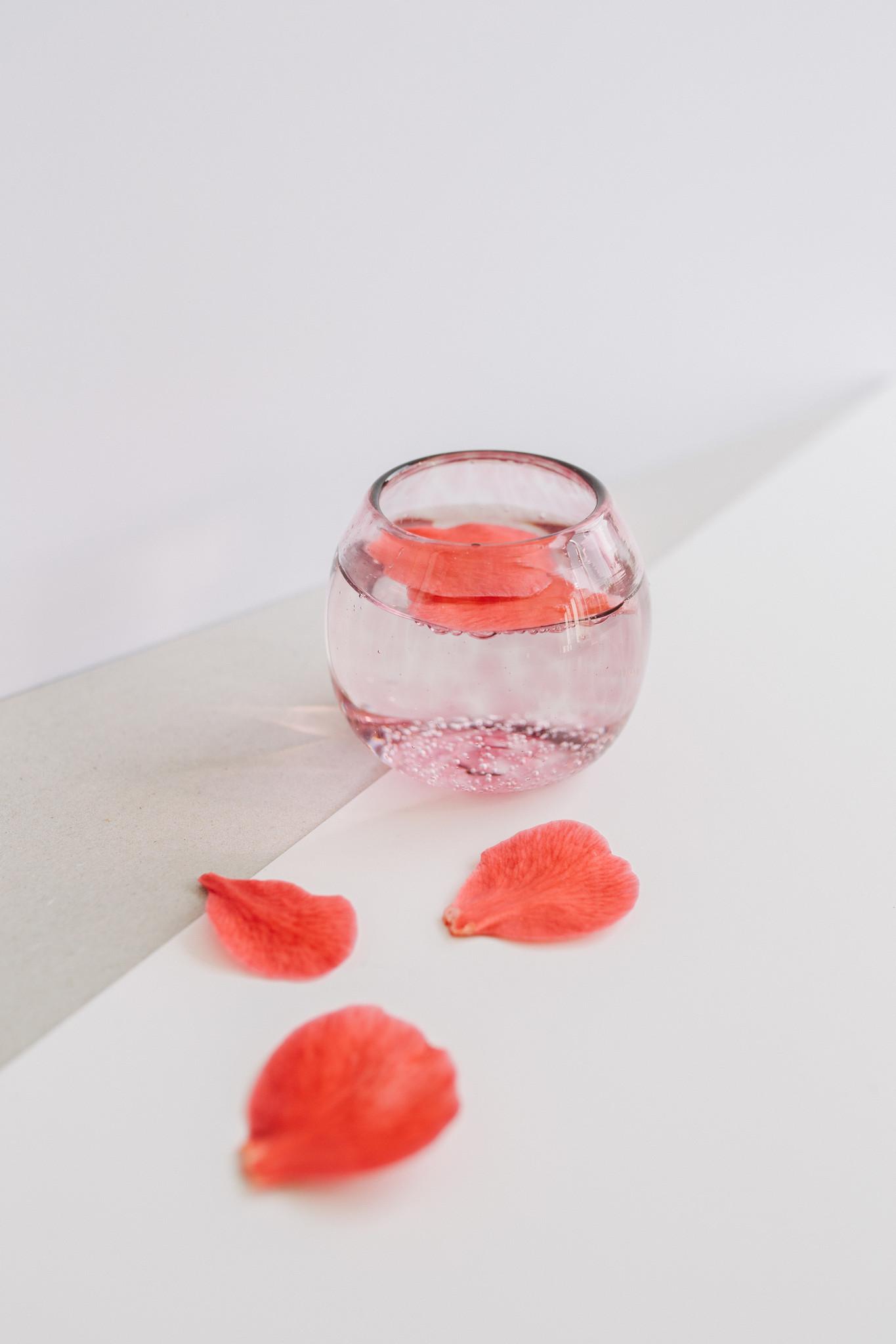 Handgeblazen rond glas