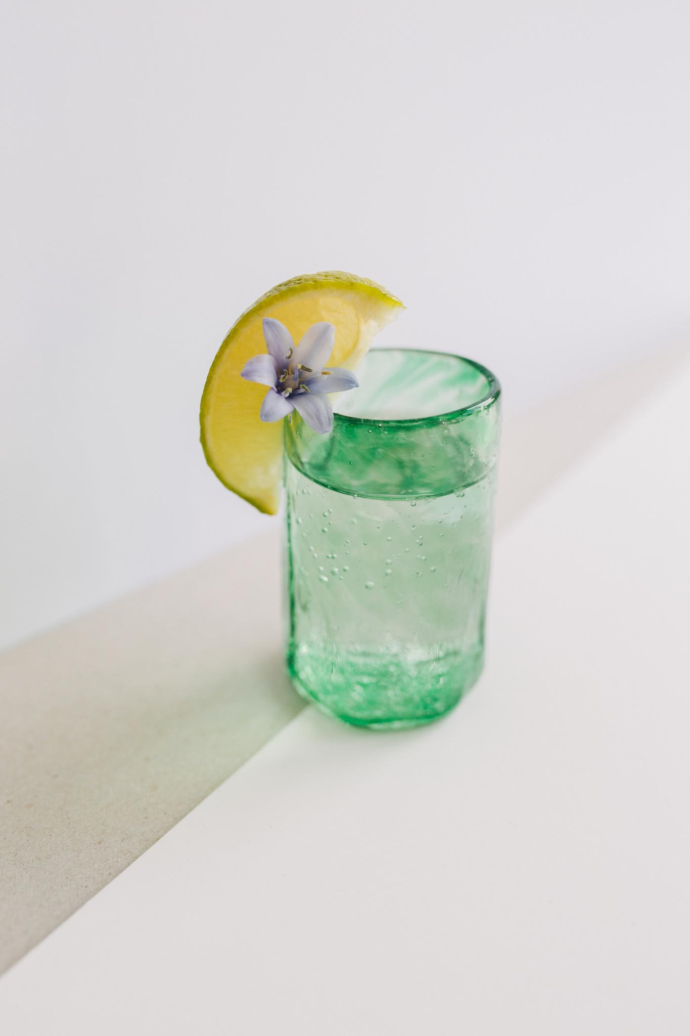 Handgeblazen shotglas