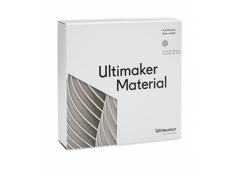 Ultimaker PLA 750gr (NFC) 2.85mm Silver-Metallic