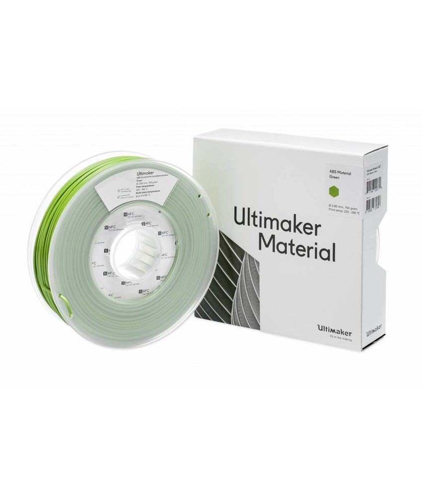 Ultimaker ABS 750gr (NFC) 2.85mm Green