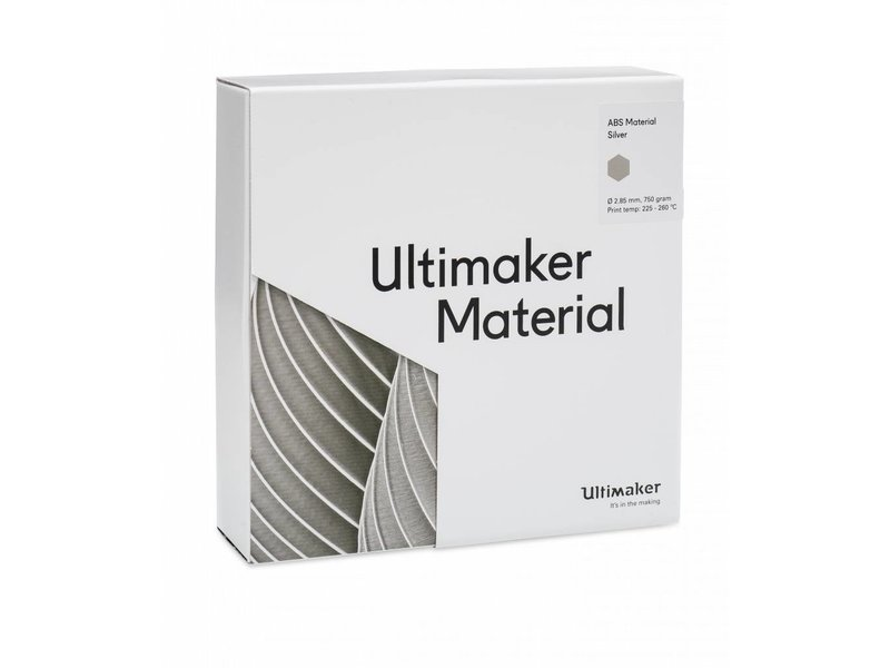 Ultimaker ABS 750gr (NFC) 2.85mm Silver