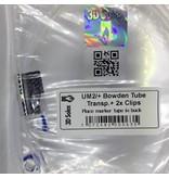 3DSolex Bowden Tube & Clips (2.85mm)