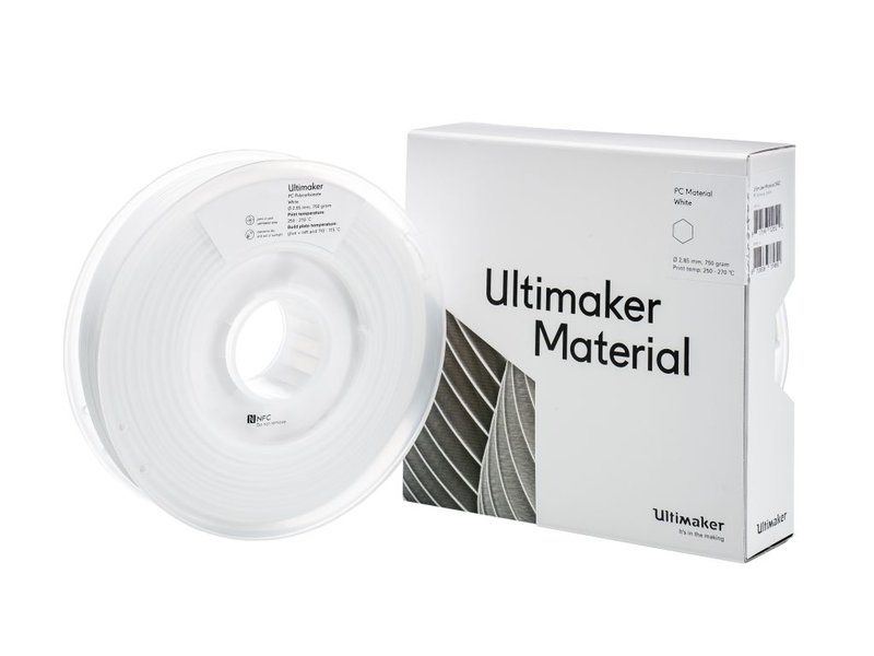 Ultimaker PC 750gr (NFC) 2.85mm White
