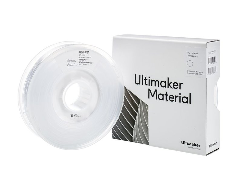 Ultimaker PC 750gr (NFC) 2.85mm Transparent