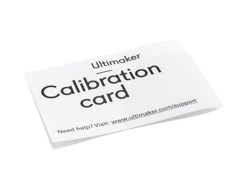 Ultimaker Calibration Card