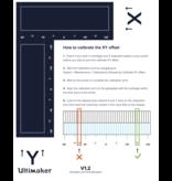 Ultimaker XY Calibration Sheet