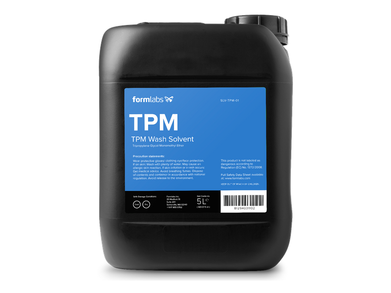 Cleaning SLA prints with TPM