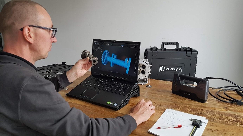 Digitaliseren en Reverse Engineering van mechanische toepassingen met 3D Scannen - Functional3D Use Case