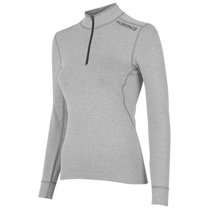 Fusion | C3 Zip Neck | Grey | Dames