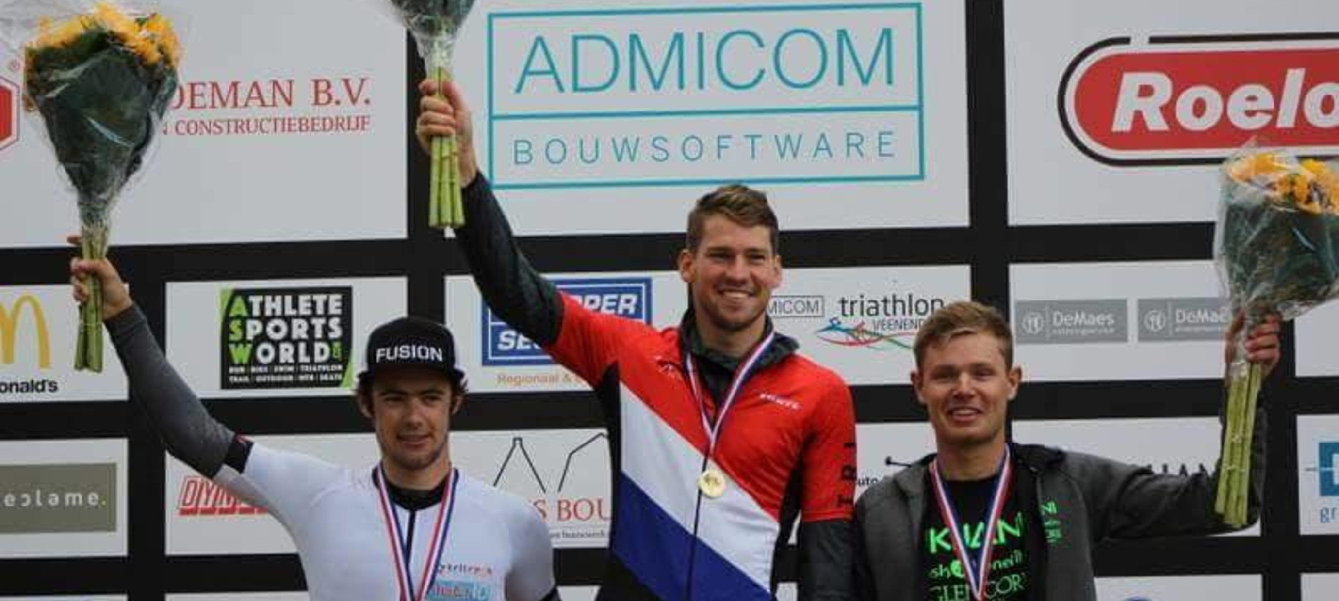 Interview Marco Akershoek,  2e tijdens NK Olympische Triathlon in Veenendaal