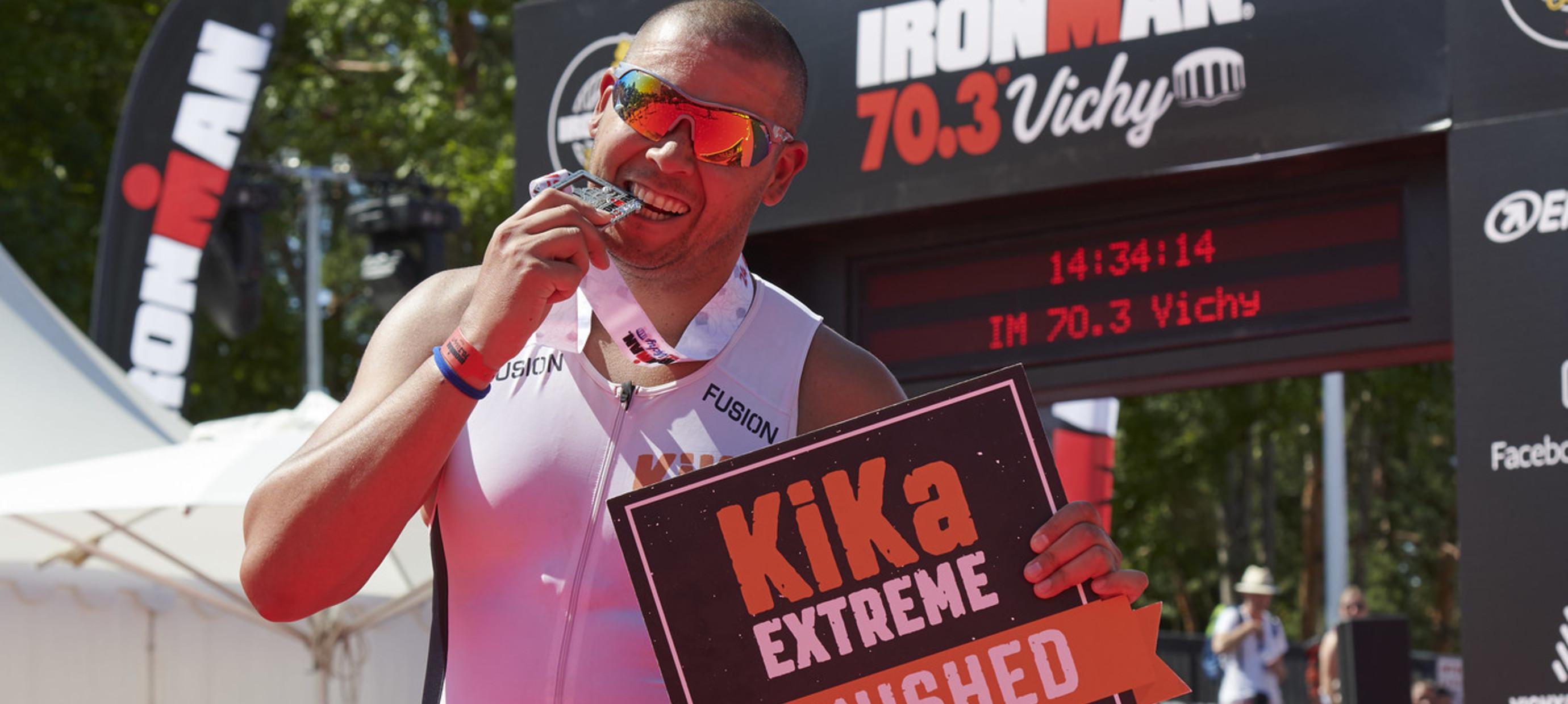 Een halve triatlon in Vichy voor kinderen met kanker!