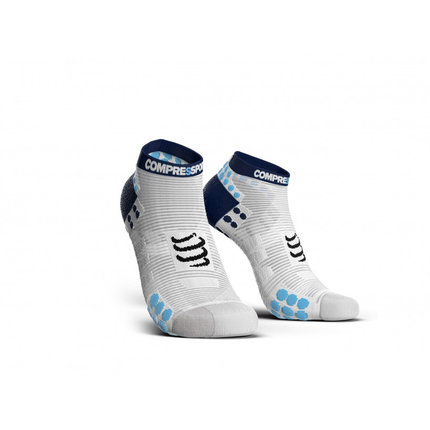 Compressport | Pro Racing Socks Run Low | White / Blue